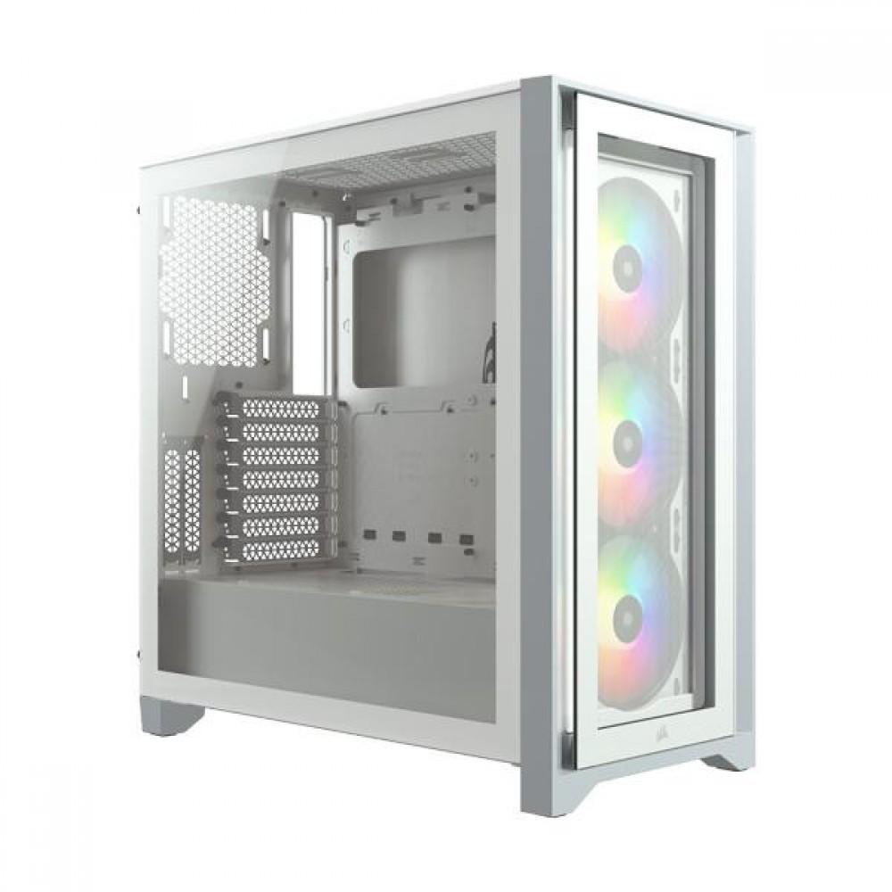 Corsair iCUE 4000X RGB ATX  White Case