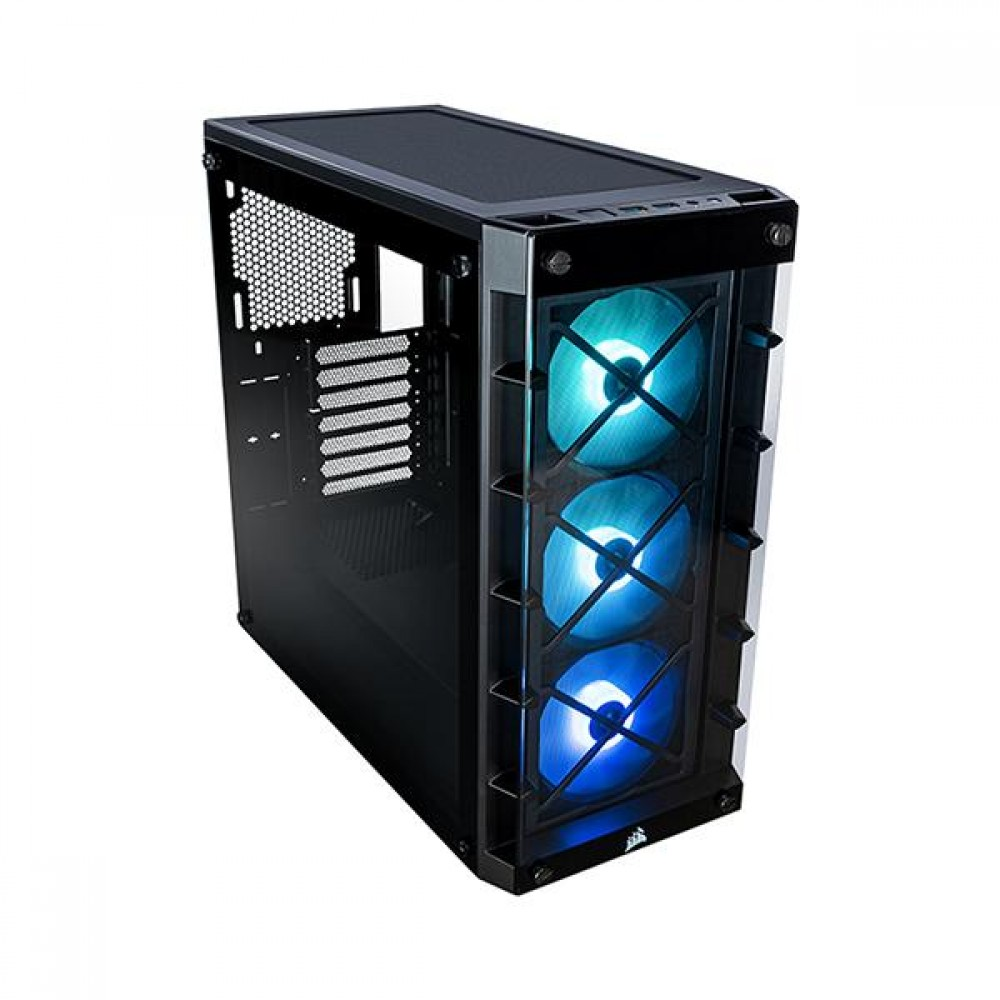 Corsair 465X TG RGB BLACK (SP120 PRO RGB FANS) CC-9011188-ABA Case