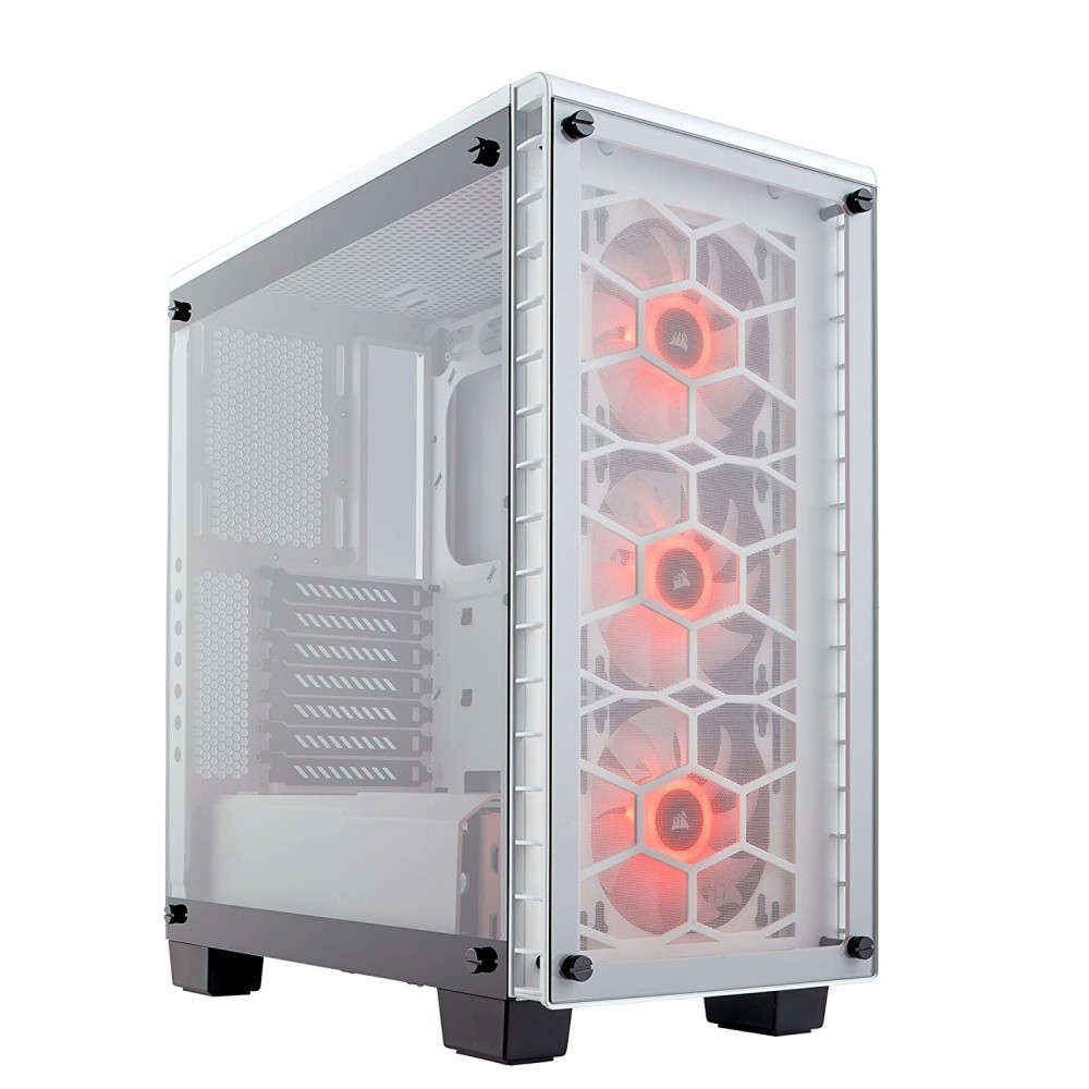 Corsair CABINET CRYSTAL 460X WHITE RGB TEMPERED GLASS Case