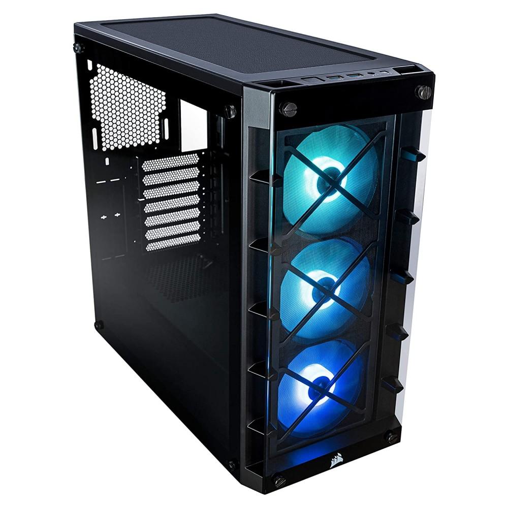 Corsair CABINET CRYSTAL 465X BLACK RGB TEMPERED GLASS Case