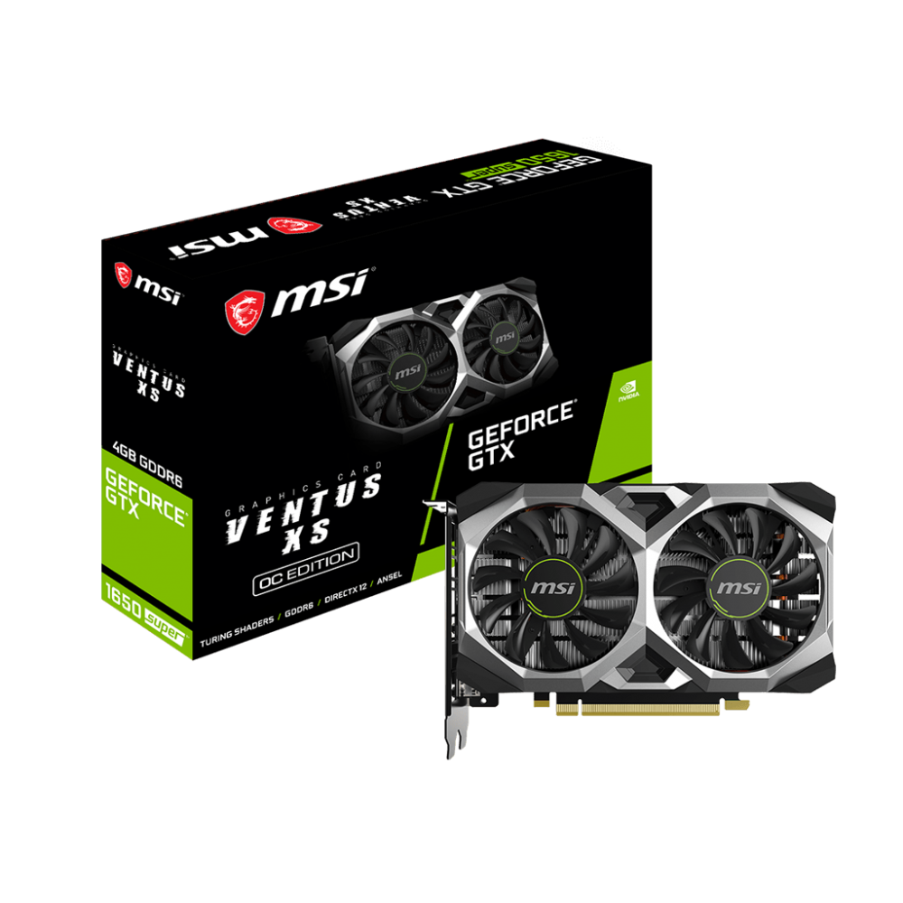 MSI GeForce GTX 1650 Super Ventus XS OC 4GB Graphic Card