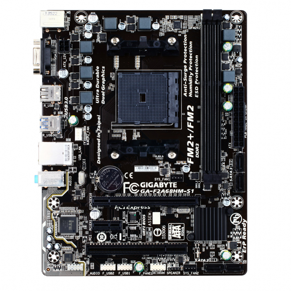 GigaByte F2 A68HM-S1 Motherboard